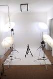 Leeres kleines Studio Stockfotografie