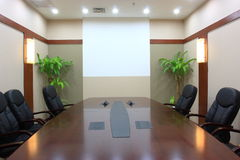 Leeres Konferenzzimmer Stockbild