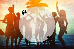 Leeres Kopien-Raum-Feiertags-Zitat Mark Summer Concept Stockfotografie