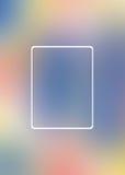 Leeres Kurvenrechteck, defocus Hintergrund schönes bokeh lizenzfreie abbildung