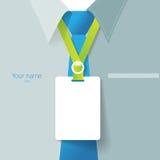 Leeres Namensschild für gesetzte Personalidentifizierung Stockfoto