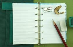 Leeres Notizbuch Stockfotografie