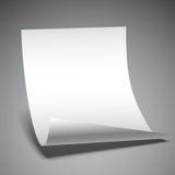 Leeres Papierblatt Lizenzfreies Stockfoto