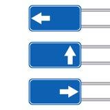 Leeres Pfeilzeichen mit Pfosten Lizenzfreie Stockbilder