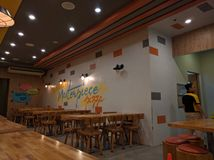 Leeres Pizzarestaurant Stockfoto