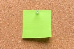 leeres quadratisches Grün festgestecktes Blatt Lizenzfreies Stockfoto