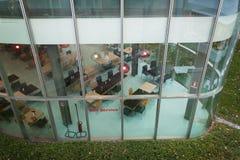 Leeres Restaurant an Wirt 2013 in Mailand, Italien Lizenzfreies Stockfoto