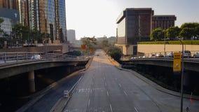 Leeres rooad in Los Angeles im Stadtzentrum gelegen Stockbild