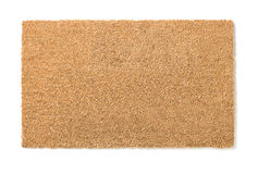 Leeres süßes Ausgangshauptwillkommen Mat Isolated auf Weiß Stockbild
