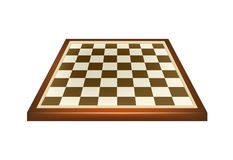 Leeres Schachbrett im braunen Design Stockfoto