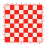 Leeres Schachbrett lokalisiert Brett für Schach oder Kontrolleurspiel Strategiespielkonzept Computererzeugtes Bild Lizenzfreie Stockfotos