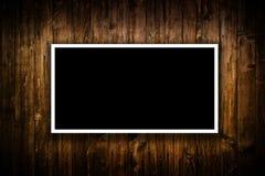 Leeres schwarzes Plakat Stockfoto