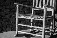 Leeres Seat eines Schaukelstuhls Stockfotografie