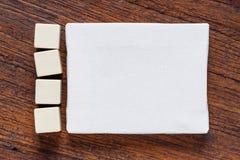 Leeres Segeltuch mit leeren Würfeln Lizenzfreie Stockfotos