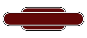 Leeres Stations-Namen-Zeichen Lizenzfreie Stockfotos