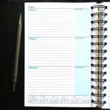 Leeres Tagebuch-Notizbuch Lizenzfreies Stockbild