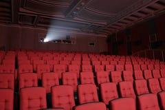 Leeres Theaterauditoriumskino Stockbild