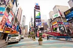 Leeres Times Square im Morgen Lizenzfreie Stockfotografie