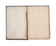 Leeres Titelblatt des alten Buches Stockbilder