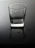 Leeres, transparentes Glas Stockfotografie