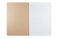 Leeres unbelegtes Notizbuch von bereiten Papier und Abdeckung auf Lizenzfreies Stockbild