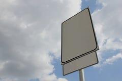 Leeres Verkehrsschild Lizenzfreies Stockbild