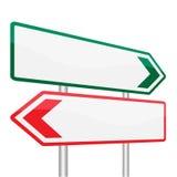 Leeres Verkehrsschild-Brett auf blauer Hintergrund-Vektor-Illustration Lizenzfreies Stockfoto