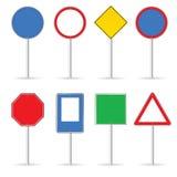 Leeres Verkehrszeichen stellte eine Vektorillustration ein Stockbilder