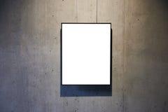 Leeres Weiß lokalisierter Rahmen Stockfotografie