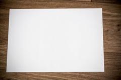 Leeres Weißbuch Lizenzfreie Stockbilder