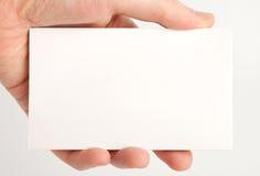 Leeres Weißbuch in der Hand Stockbilder