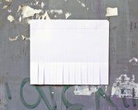 Leeres Weißbuch mit reißen Vorsprünge auseinander stockbilder
