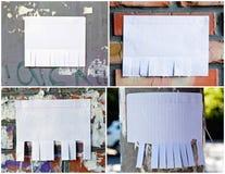 Leeres Weißbuch mit reißen Vorsprünge auseinander stockbild