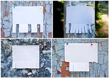 Leeres Weißbuch mit reißen Vorsprünge auseinander stockfotografie