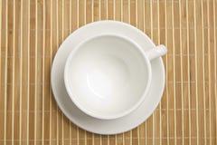 Leeres weißes Cup Lizenzfreies Stockfoto