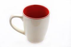 Leeres weißes Cup Stockfotos