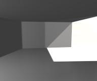 Leeres weißes Innenbild Stockfoto