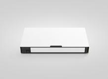 Leeres weißes Videokassettenmodell, Vorderansicht, Lizenzfreie Stockfotos