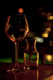 Leeres Wein-Glas Lizenzfreies Stockbild
