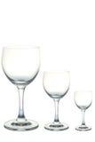 Leeres Weinglas stockfotografie