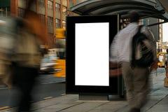 Leeres Werbung- im Freienwartehäuschen Lizenzfreie Stockfotos