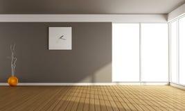 Leeres Wohnzimmer stock abbildung