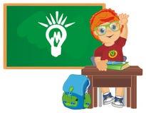 Leerling en idee op school vector illustratie