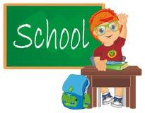 Leerling op school royalty-vrije illustratie
