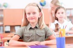 Leerlingen in klaslokaal Stock Foto