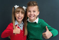 Leerlingen terug naar school Stock Fotografie