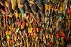 Leerschoenen Stock Afbeelding