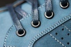 Leerschoenen, nadruk op details Royalty-vrije Stock Afbeeldingen