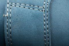Leerschoenen, nadruk op details Stock Fotografie