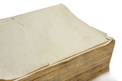 Leerseite des alten Buches mit Gelben Seiten Lizenzfreie Stockfotografie